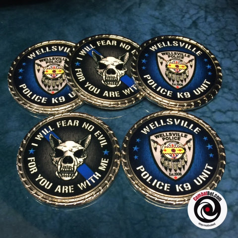 Fallen officer to thin blue line custom challenge coins, to order, for sale, near me.
