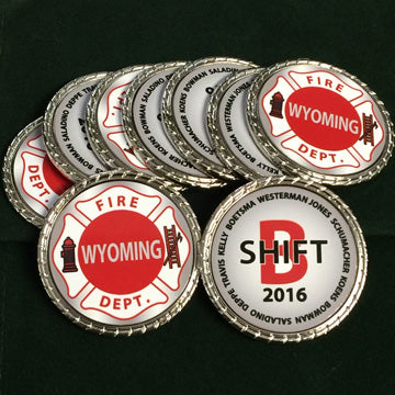 WY Fire Department Challenge Coins