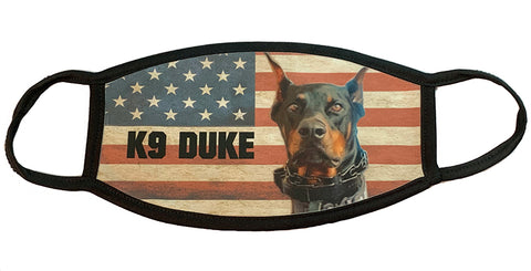 K9 Duke American Flag Face Mask