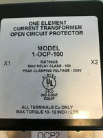 INSTRUMENT TRANSFORMER 1-OCP-100 CURRENT TRANSFORMER OPEN CIRCUIT PROTECTOR