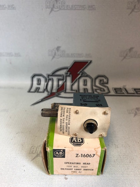ALLEN BRADLEY Z-16067 LIMIT SWITCH OPERATING HEAD