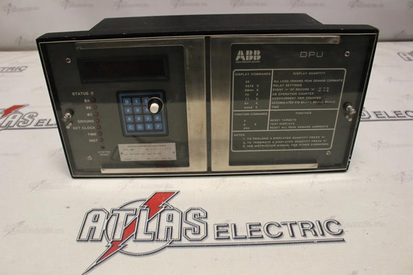 ABB TYPE DPU DISTRIBUTION PROTECTION SYSTEM CAT#445H0400-600