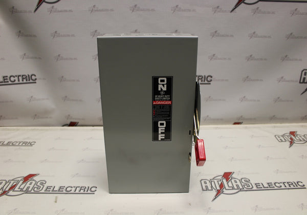 General Electric 60 Amp 3 Pole Fusible Safety Switch Catalog Number TH4322 240 Volt N1