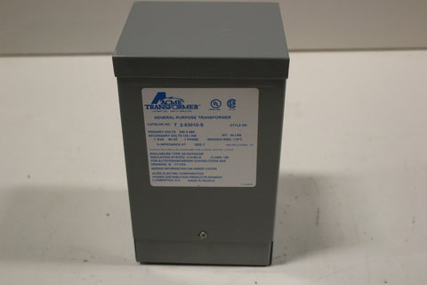 1 KVA ACME Dry Type Transformer 240/480-120/240 Volt 1 Phase