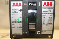ABB 2 Pole Molded Case Circuit Breaker 225 Amp 480 Volt UXAB 717520 R 999