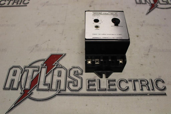 GE 3023600EDP1 GROUND FAULT RELAY ADJUSTABLE TRIP 4-12 AMPS