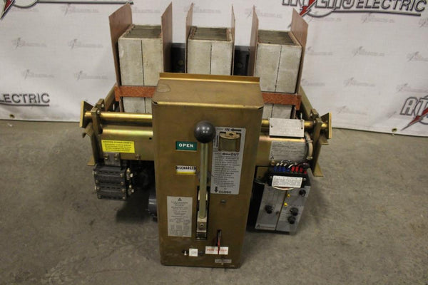 Allis Chalmers 1600a Low Voltage Air Circuit Breaker LA-1600A MO DO 600V Static Trip II Type TS 1600amp