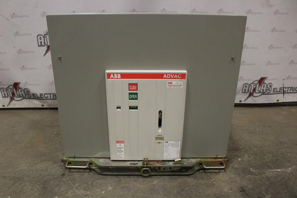ABB 3000 Amp ADVAC type AA3D3777XX0000P Electric Operation Drawout 4760 Volt