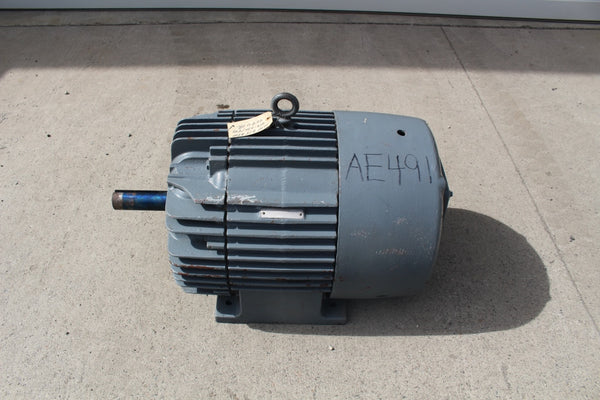 30 HP General Electric Tri-Clad Motor 875 RPM 404U Frame 208/220/440 Volt TEFC