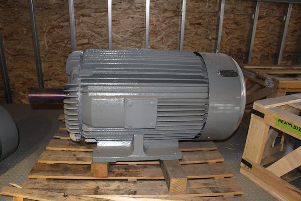 125 HP Toshiba World Power Series Motor 1175 RPM 445T Frame 208/230/460 Volt TEFC