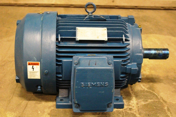 7.5 HP Siemens PE-21 Plus Premium Efficiency Motor 1170 RPM 254T Frame 230/460 Volt TEFC
