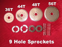 Clamp to spokes 4 sprocket kit