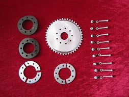 Clamp to spokes 44T rear sprocket kit