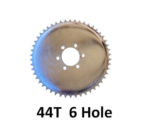 44T concave 6 hole sprocket for #2 HD AXLE 6 hole solid hub