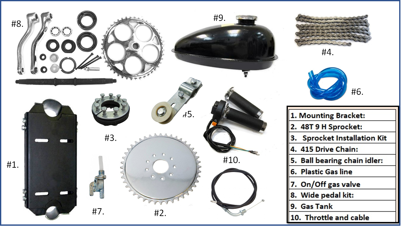 4 stroke engine Installation Kit.