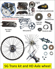 5G -72T - Belt Drive Transmission kit & HD Axle Wheel for Predator 79cc