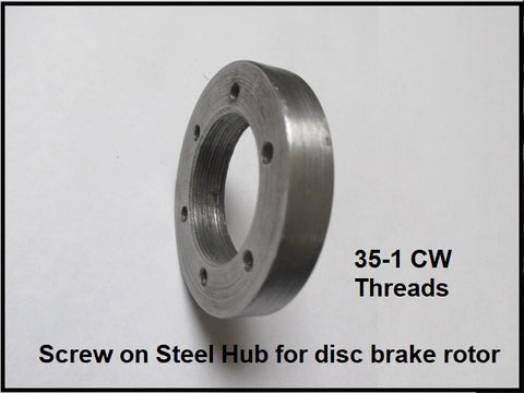 HD AXLE Screw on Hub for disc brake rotor.