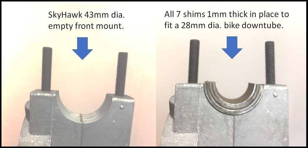 7 pcs Half Moon 1mm tk. Front mount Shim package.