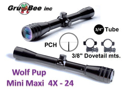 WolfPup 4X PCH,  -------Scope & Rings