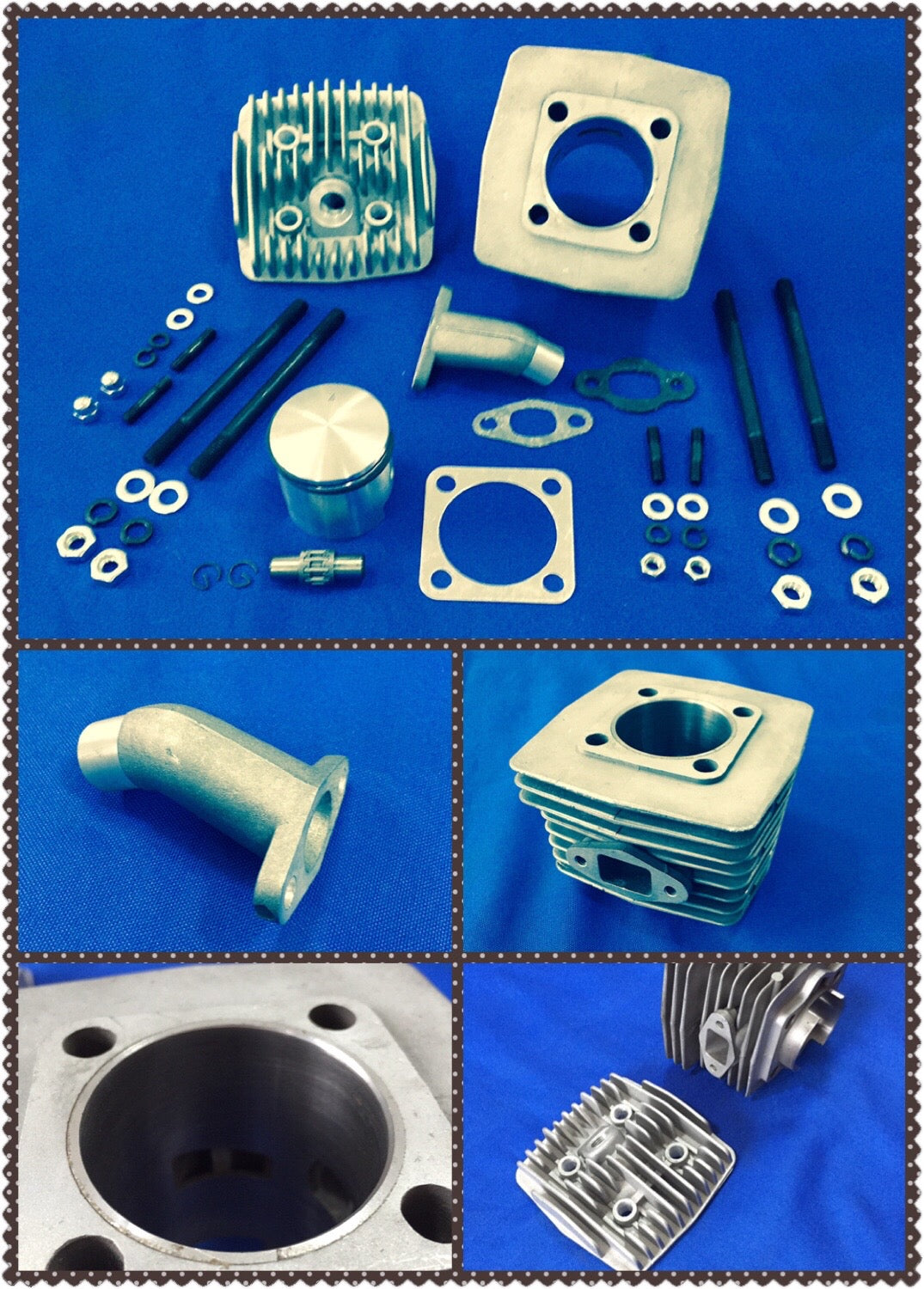 SuperRat Iron Sleeve Cylinder Kit for 70cc Engine