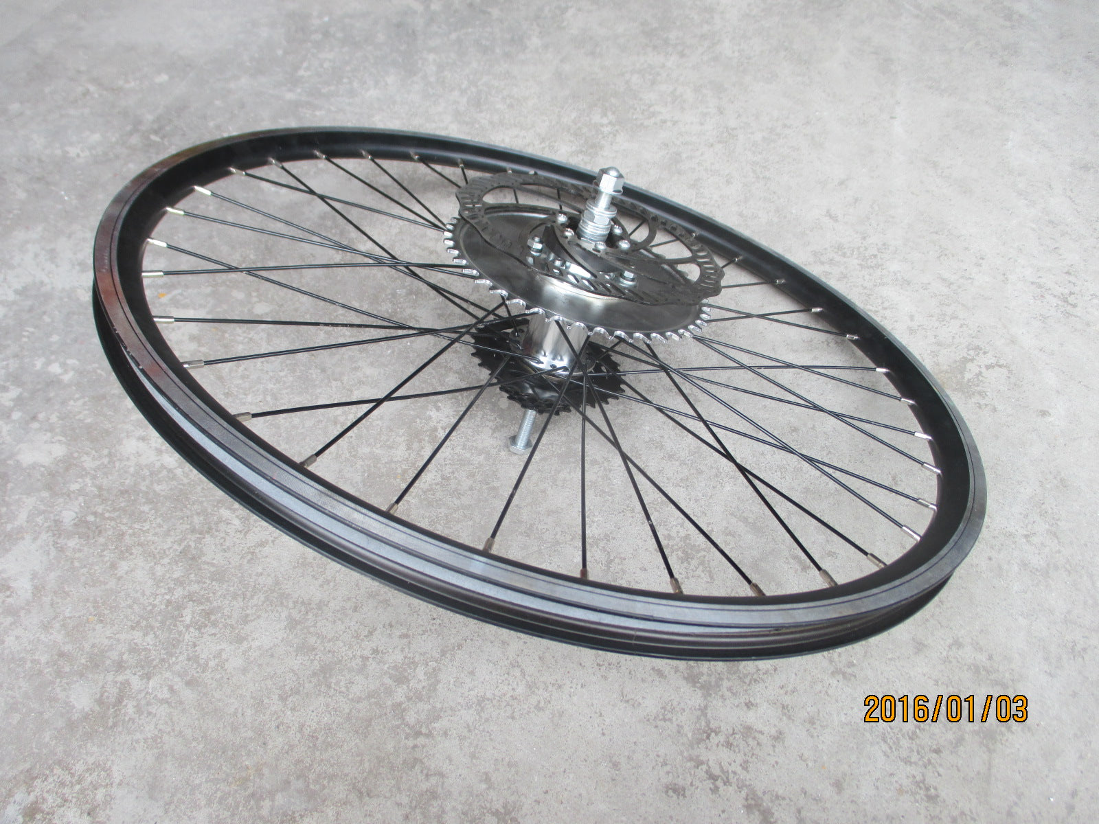 "HD AXLE 26"" rim wheel for single speed 115 to135mm frame drop out"