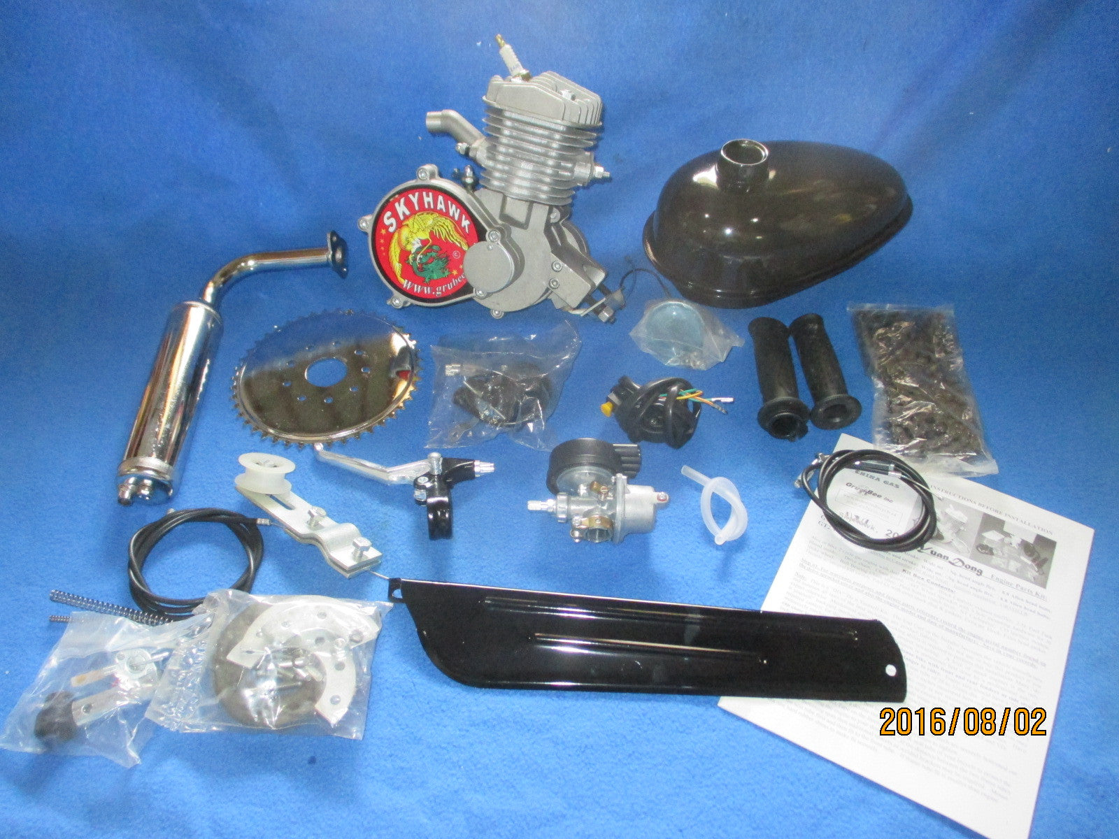 66cc GT5A-ES - Pedal and Electric Drill Start Engine KIT