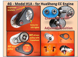 4G 1A Transmission only:  Fits Huasheng 49 & 53cc engines.