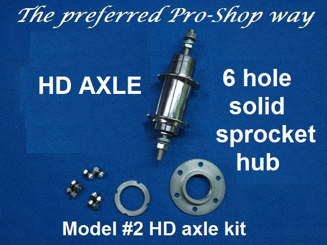 HD Axle Model #2 with solid sprocket hub