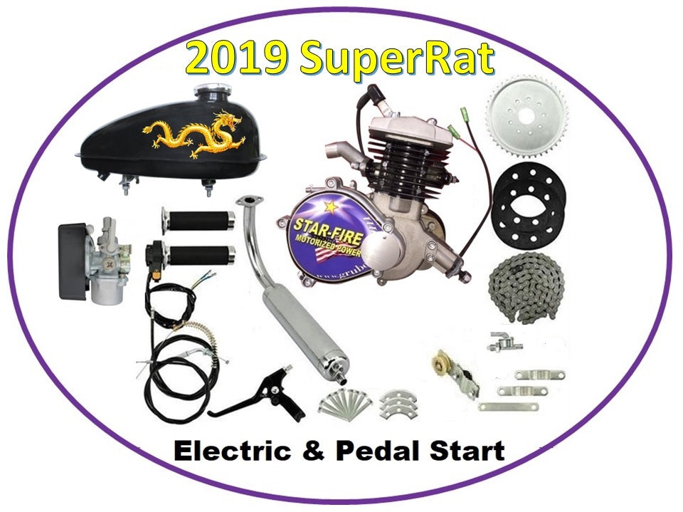 Total KIT: StarFire SuperRat 70cc ES Bike Engine Kit  ------FREE SHIPPING