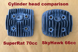 SkyHawk Gt5A and Gt5A-ES 66cc Angle Fire head