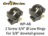 "WP-AB  Low Mount, 2 screw, Browning Type 3/4"" Split Rings"
