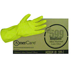 LATEX YELLOW HOUSEHOLD LARGE GLOVE (599-3)PAIR ** OSHA PPE **