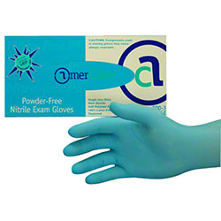 MEDIUM BLUE POWDER FREE NITRILE EXAM GLOVES 10 BX/CS