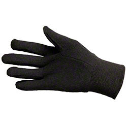 BROWN JERSEY KNIT GLOVES/PR ** OSHA PPE **