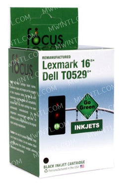 10N0016 Black / #16 Remanufactured Black Ink Cartridge Compatible with Lexmark Printers - MasterWorks International