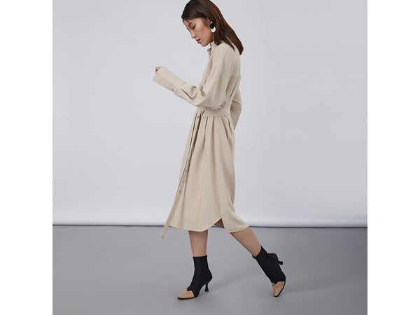 The Belted Shirt Dress
