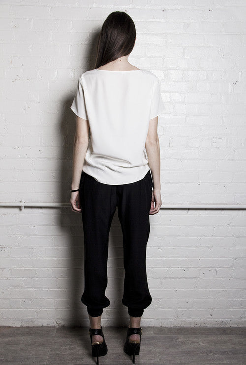 The Slouchy Silk Pant