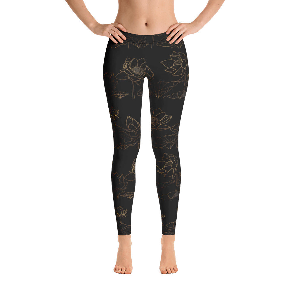 Anjé Golden Lotus Leggings