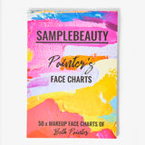 Painter's Face Charts - 50 Pages - Sample Beauty