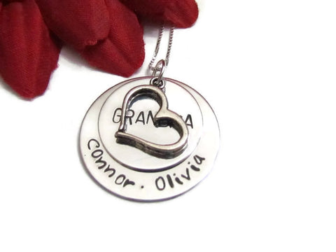Grandma Heart Necklace