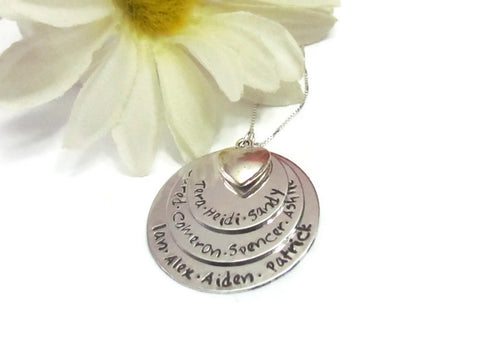 Large Family Name Necklace