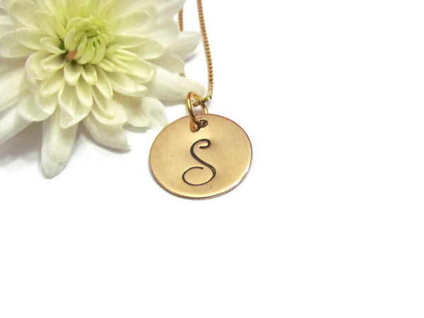 Gold Fancy Initial