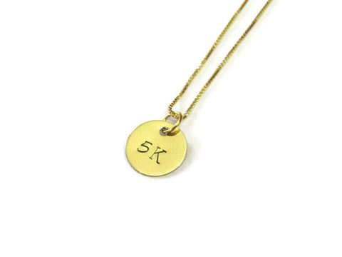 Runners Gold Necklace