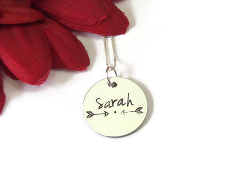 Arrow Necklace - Personalized Name