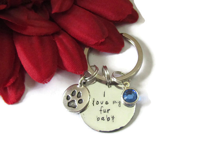 Keychain - I love my fur baby