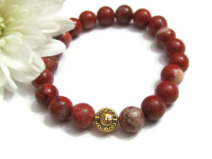 Meditation Red River Jasper Bracelet