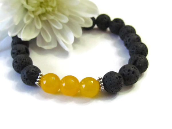 Focus & Strength Lava Bracelet
