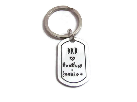 DAD Love Keychain - Personalized