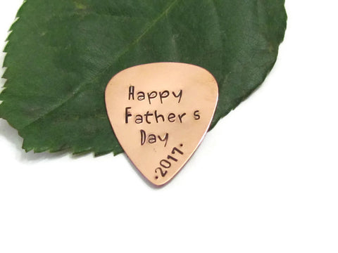 Copper Guitar Pick - Dated