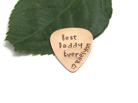 Copper Guitar Pick - Personalized
